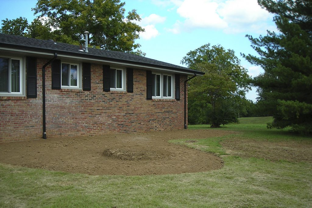 Before landscape design & installation project