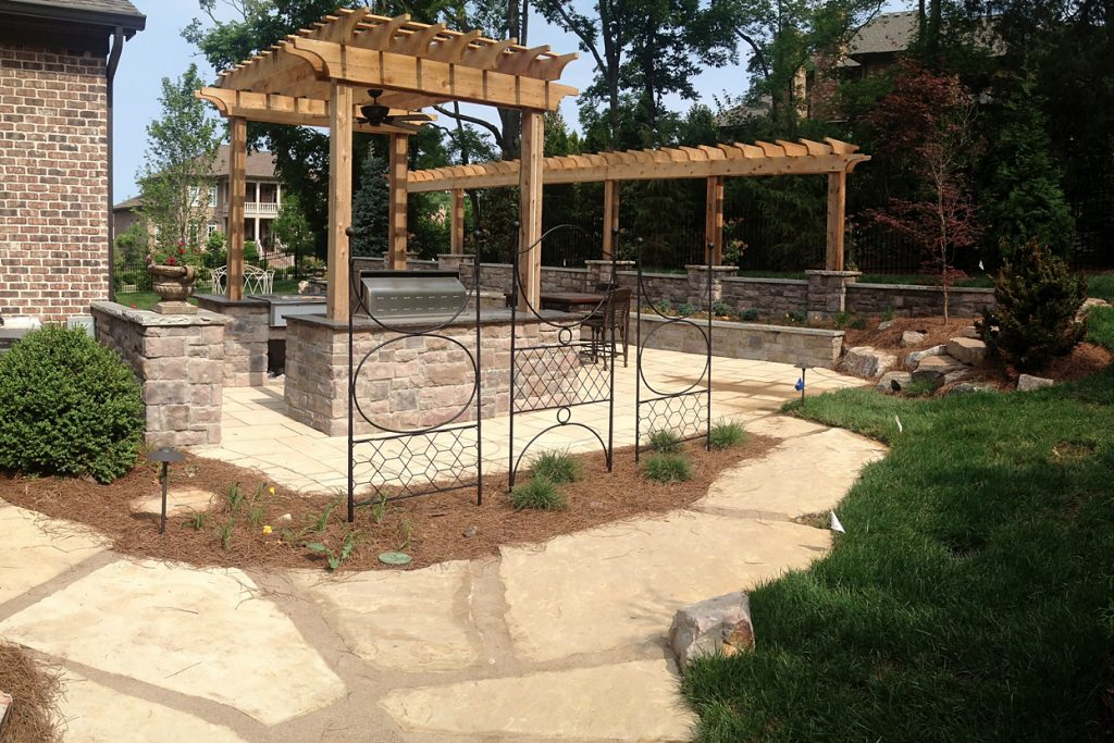 After completion of landscape design & installation project