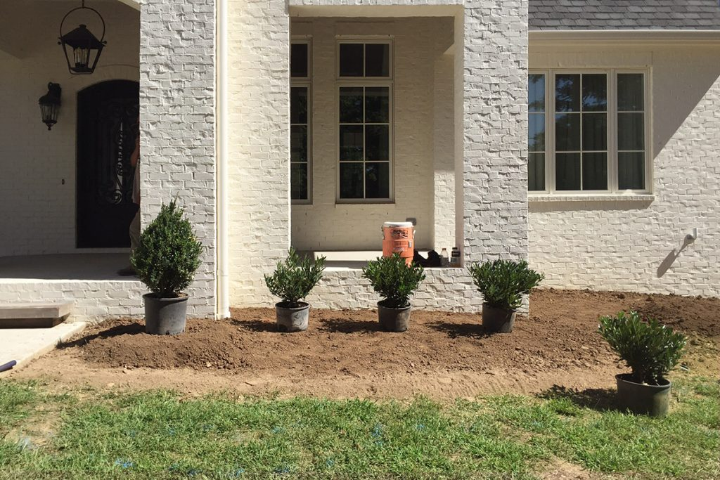 During landscaping & installation of the Deloach project