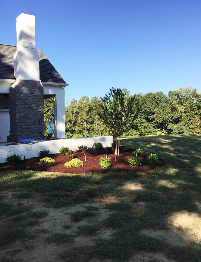 After completion of landscape design & installation the Deloach project